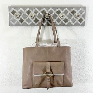 NWT Frye Madison Tote Bag Stone $398 Ring Harness
